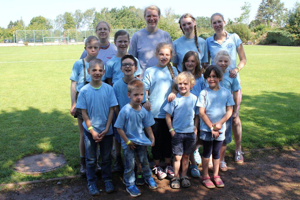 Beim Landeskindertanzfest der Kindergruppe Kiekeberg